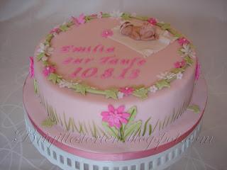 emilia s tauftorte in zartem rose pink babyshower cake brigittes tortendesign. Black Bedroom Furniture Sets. Home Design Ideas